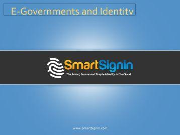 E-Governments and Identity - Canada Cloud