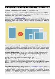 6 Reasons Behind Use Of Responsive Website Design