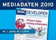 MEDIADATEN 2010 - web & mobile DEVELOPER