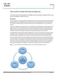 Cisco IronPort S-Series Web Security Appliances