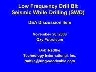 Low Frequency Drill Bit Seismic While Drilling - Drilling Engineering ...