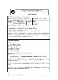 Universidade Federal de Uberlândia - Facom
