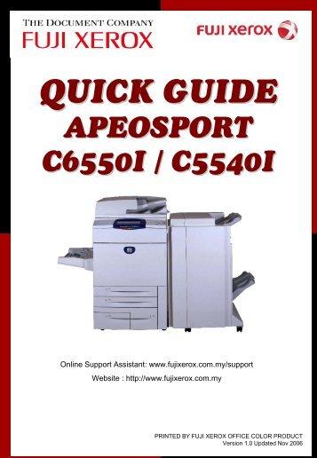 Fuji Xerox docucentre Iv C4470 Driver Apeosport v