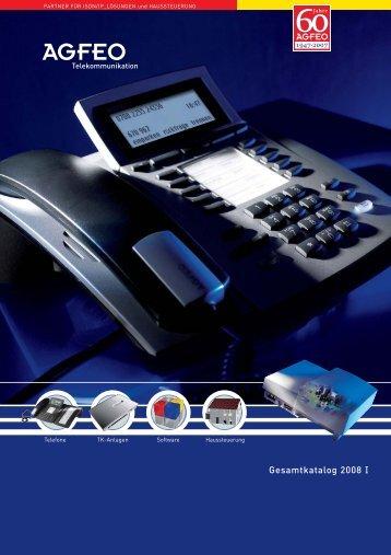 Agfeo Produkt-Katalog - bei OBYS Telekommunikation