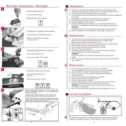 Bedienungsanleitung / Operating Instructions ... - LUTZ MASCHINEN
