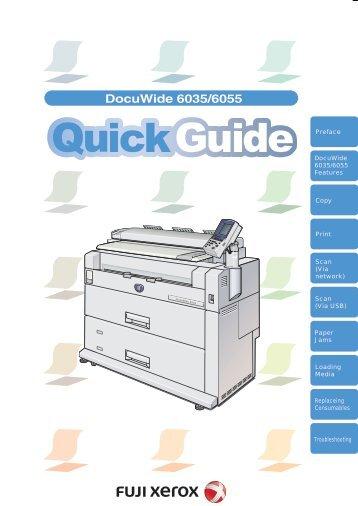 Fuji xerox Docuwide 3030 manual