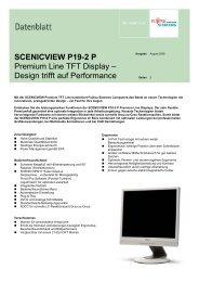 SCENICVIEW P19-2 P Premium Line TFT Display ... - Seher IT