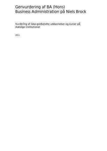 Genvurdering af BA (Hons) Business Administration på Niels ... - EVA