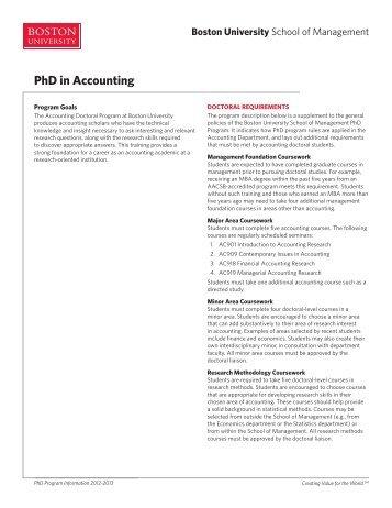 Phd accounting