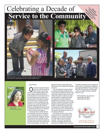 Celebrating a Decade of - Ravenswood Family Health Center