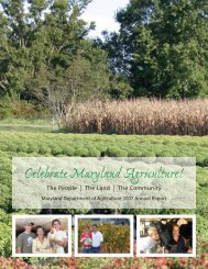 2007 MDA Annual Report - Maryland Department of Agriculture