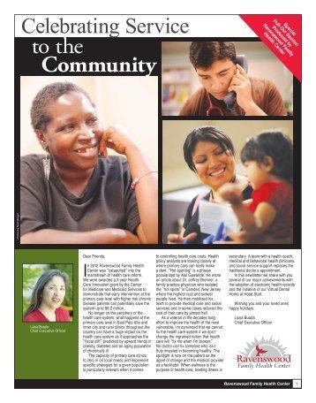 Fall Newsletter - Ravenswood Family Health Center