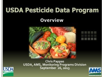 USDA Pesticide Data Program - Maryland Department of Agriculture