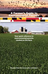 A Farmer's Guide to Environmental Permits - Maryland Department ...