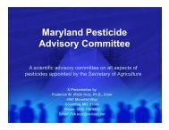 Presentation on PAC - Maryland Department of Agriculture