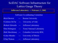 SciDAC Software Infrastructure for Lattice Gauge Theory - Boston ...