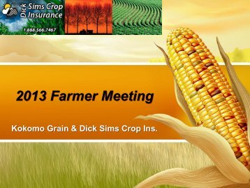 KG DSA 2013 Farmer Crop Ins. Update - Dick Sims Agency, Inc.