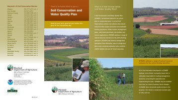 Soil Conservation and Water Quality Plan - Maryland Department of ...