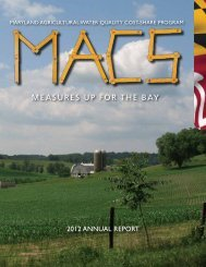 2012 MACS Annual Report - Maryland Department of Agriculture