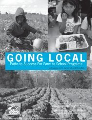 Going Local Paths to Success For Farm to School Programs