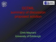 QCDML summary of discussion proposed solution QCDML ...