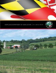 2011 annual report - Maryland Department of Agriculture