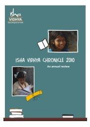 IV Chronicle 2010 (1) - Isha Vidhya