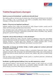 Nejčastěji kladené otázky z oblasti vnitřní bezpečnosti a ... - TOP 09