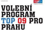 Volební program TOP 09 pro Prahu