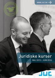 JUC kurser for advokater og jurister 4-2015