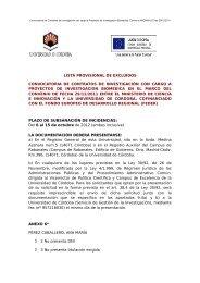 lista provisional de excluidos convocatoria de contratos de ...