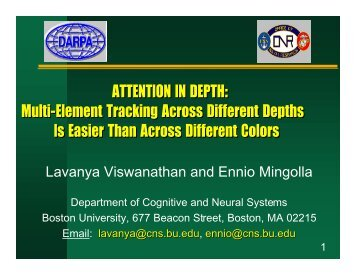 to download the poster in PDF - Department of Cognitive and Neural ...