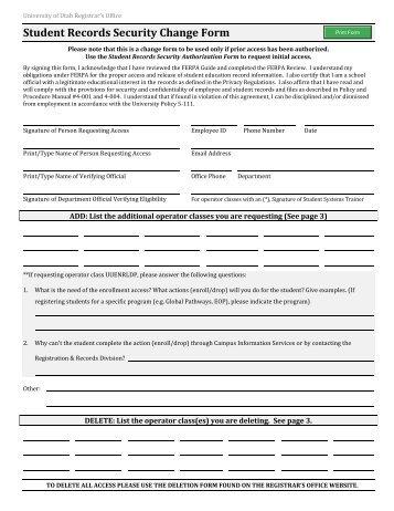 E – Grade Security Authorization Form - Office of the Registrar