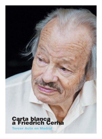 Carta blanca a Friedrich Cerha - Revistas Culturales
