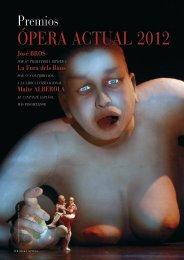ÓPERA ACTUAL 2012 - Revistas Culturales