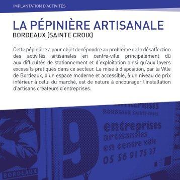 LA PÉPINIÈRE ARTISANALE - Centre-Ville en Mouvement
