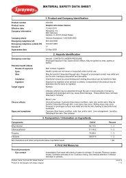 Sprayway 40 Glass Cleaner MSDS