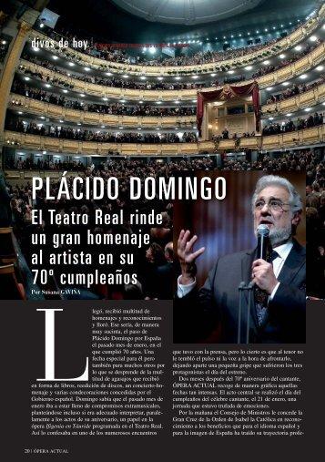 PLÁCIDO DOMINGO - Revistas Culturales