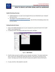 how to create captions using subtitle workshop - Innovation in ...