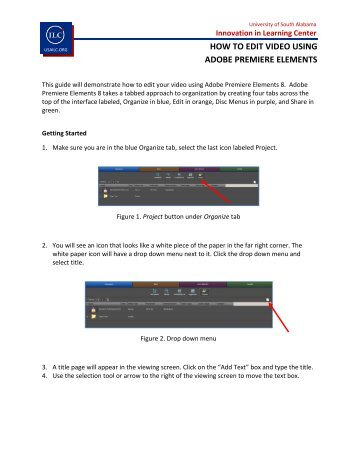 How to organize edit video in adobe premiere elements how to edit video using adobe premiere elements innovation in ccuart Image collections