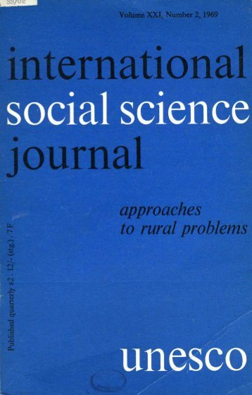 A Bush-country notebook; International social science journal; Vol ...