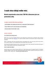 I malé obce dělají velké věci - návrh RUD.pdf - TOP 09