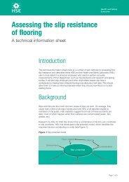Assessing the slip resistance of flooring - HSE