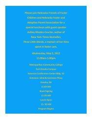 Please join Nebraska Friends of Foster Children and ... - NFAPA