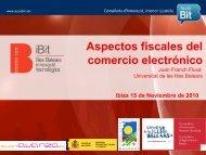 Aspectos fiscales del comercio electrónico - Fundació IBIT