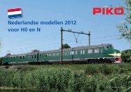 Nederlandse modellen 2012 voor H0 en N - Piko