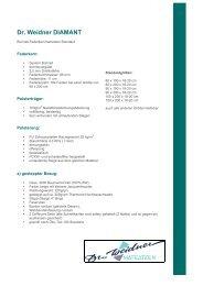 Produktdetails als PDF - Dr. Weidner Matratzen