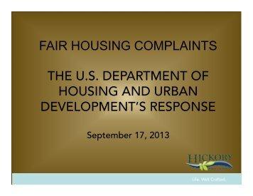 September 17, 2013 - City of Hickory