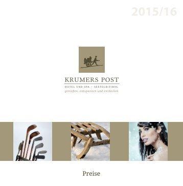 Preisliste 2015/16